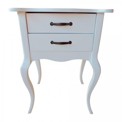 Criado Mudo Clássico 2 Gavetas - Branco - Tommy Design