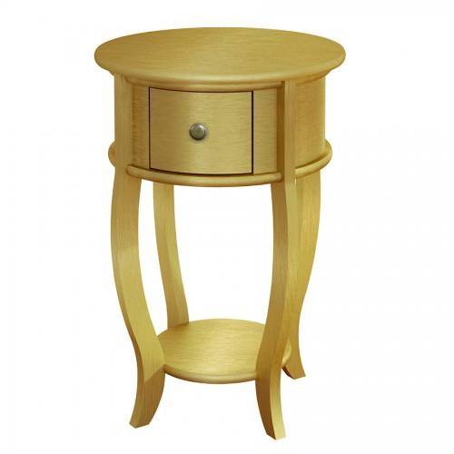 Mesa Lateral com Prateleira E Gaveta - Dourado - Tommy Design