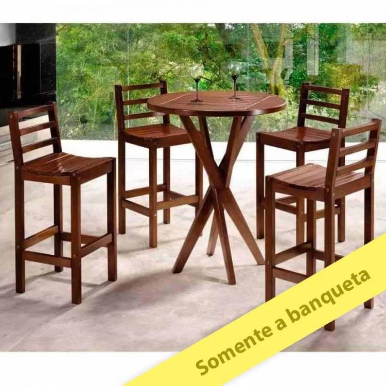 Banqueta Bistrô Ônix - Tommy Design