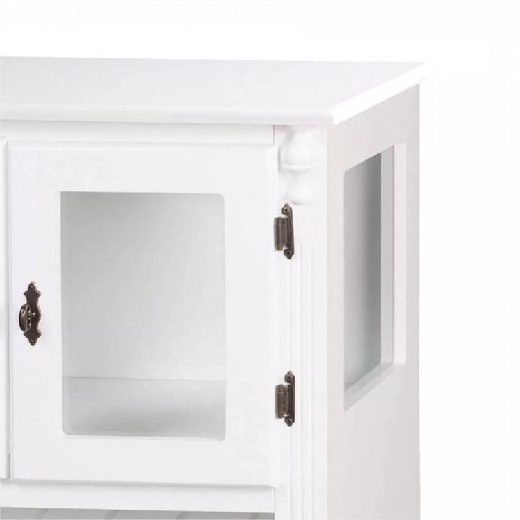 Adega Baixa 02 Portas Madeira - Branco- Tommy Design
