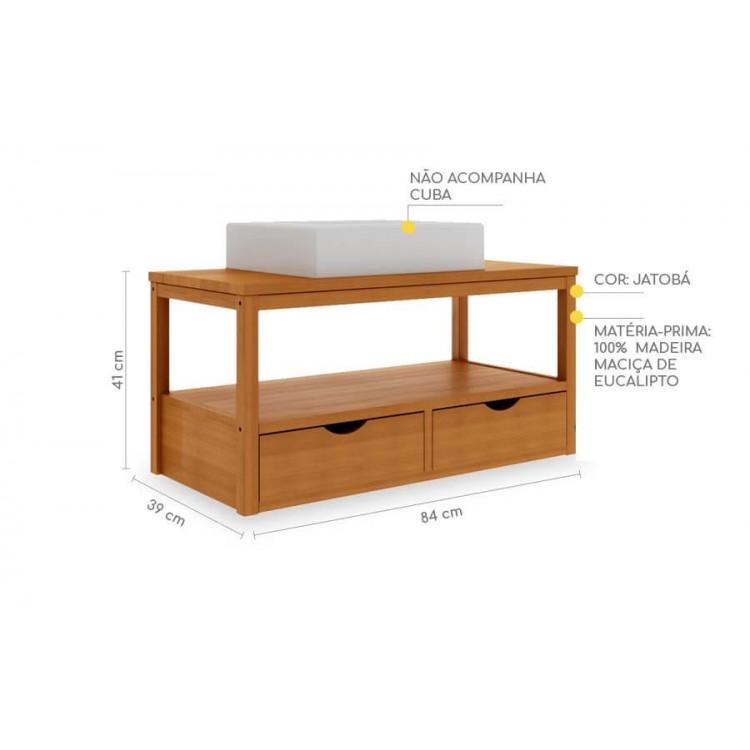 Bancada Suspensa Aquiles Jatobá - Tommy Design