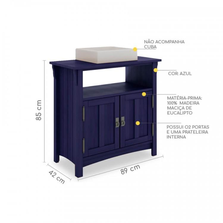 Bancada Dupla Mission Azul - Tommy Design