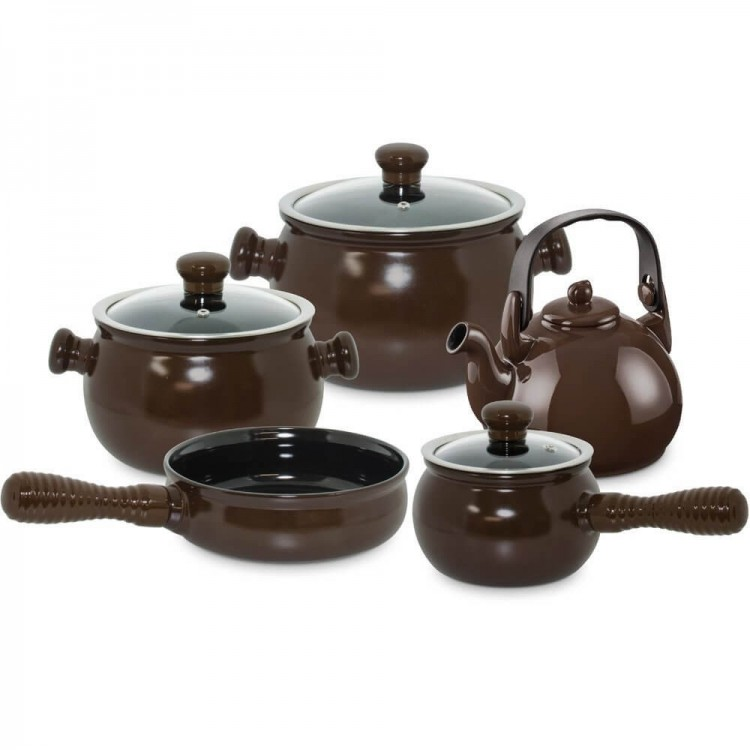 Conjunto Colonial 5 Pcs - Chocolate - Tommy Design