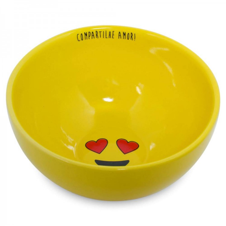 Bowl 13Cm 400Ml Amarelo Amor Linha Diverticon - Mondoceram - Tommy Design