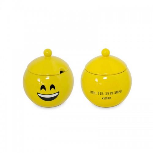 Açucareiro Amarelo - Bom Dia - Linha Diverticon - MondoCeram - Tommy Design