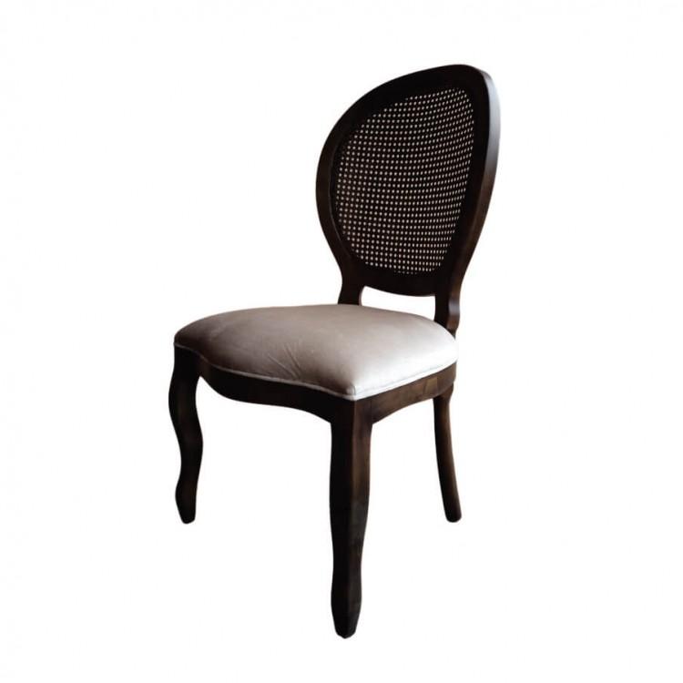 Cadeira Medalhão - Imbuia Sem Braço - Tommy Design
