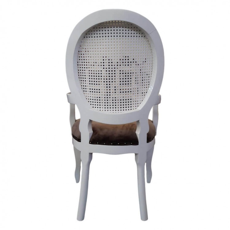 Cadeira Medalhão com Palha e Braço - Tommy Design