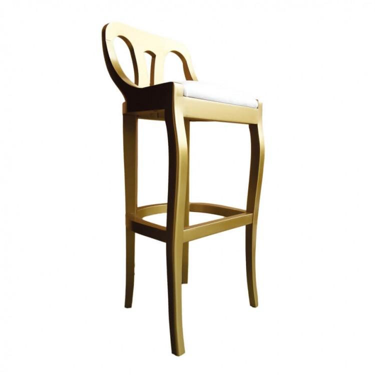 Banqueta Alta Napoleão - Dourado - Tommy Design