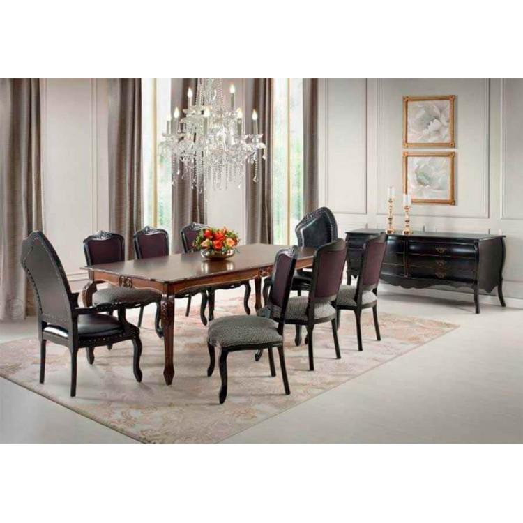 Cadeira Luis Xv - Prata com Floral - Tommy Design