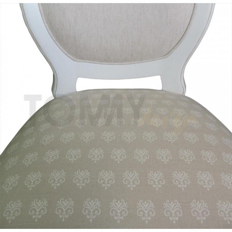 Mini Cadeira Medalhão Lisa - Branco Provençal - Tommy Design