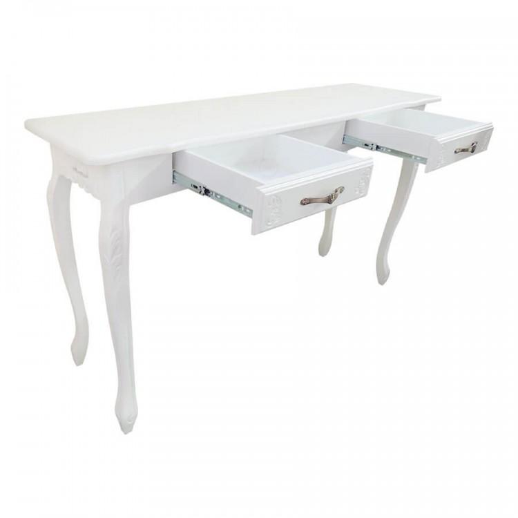 Aparador Luis Xv com 2 Gavetas - Branco - Tommy Design