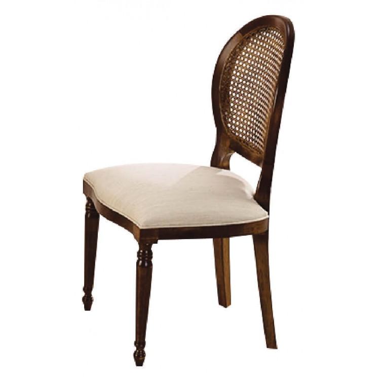 Cadeira Medalhão Pequena Imbuia Palha - Tommy Design