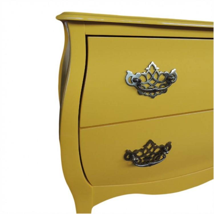 Cômoda Bombe 02 Gavetas - Amarelo  -  Tommy Design
