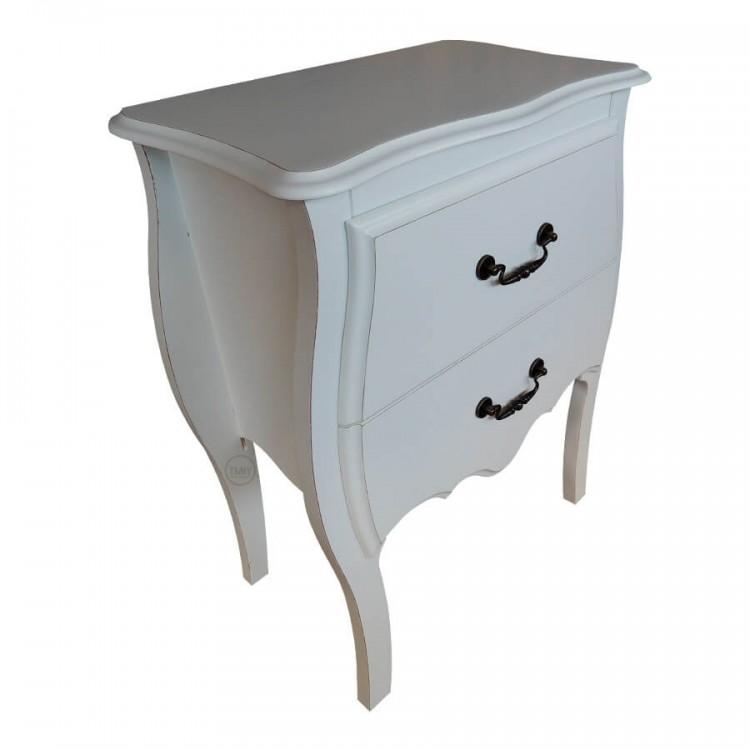 Criado Mudo Arthur 2 Gavetas - Branco Provençal - Tommy Design