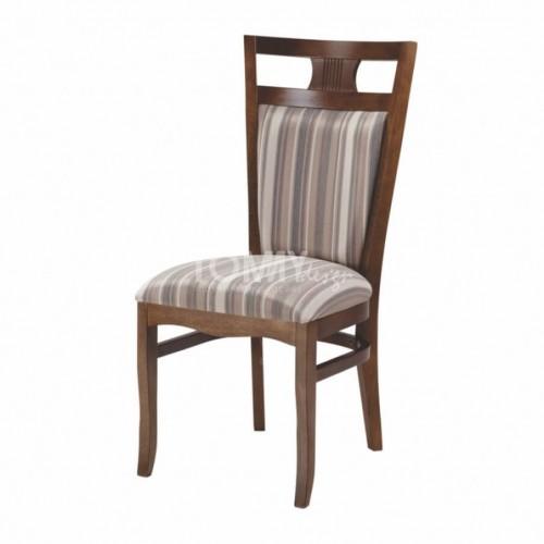 Cadeira Génova - Marrom Listrado - Tommy Design