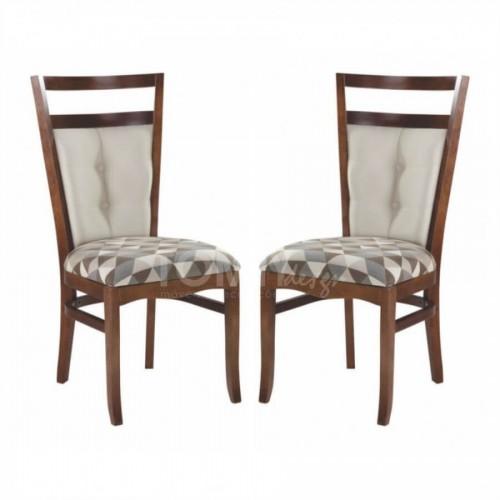 Conjunto 2 Cadeiras Arezzo - Estampa Geométrica - Tommy Design