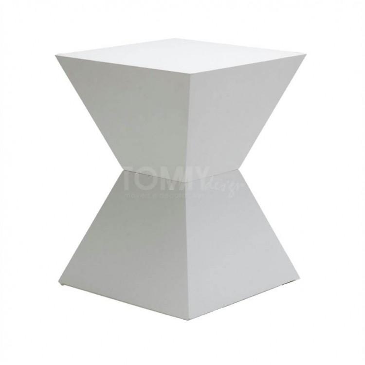 Banqueta Trapezio - Branco - Tommy Design