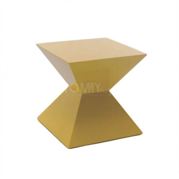 Banqueta Trapezio - Amarelo - Tommy Design