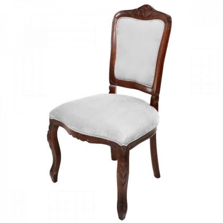 Conjunto Dom Pedro - Mesa de Jantar Entalhada 200X110 + 6 Cadeiras Entalhadas Lisa - Tommy Design