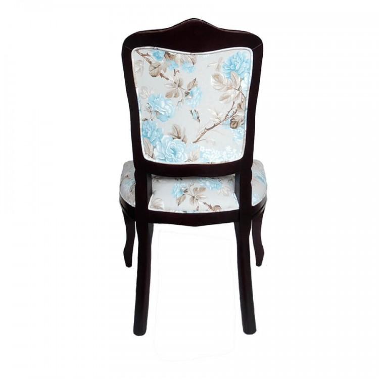 Cadeira Dom Pedro Sem Braço - Imbuia E Floral - Tommy Design