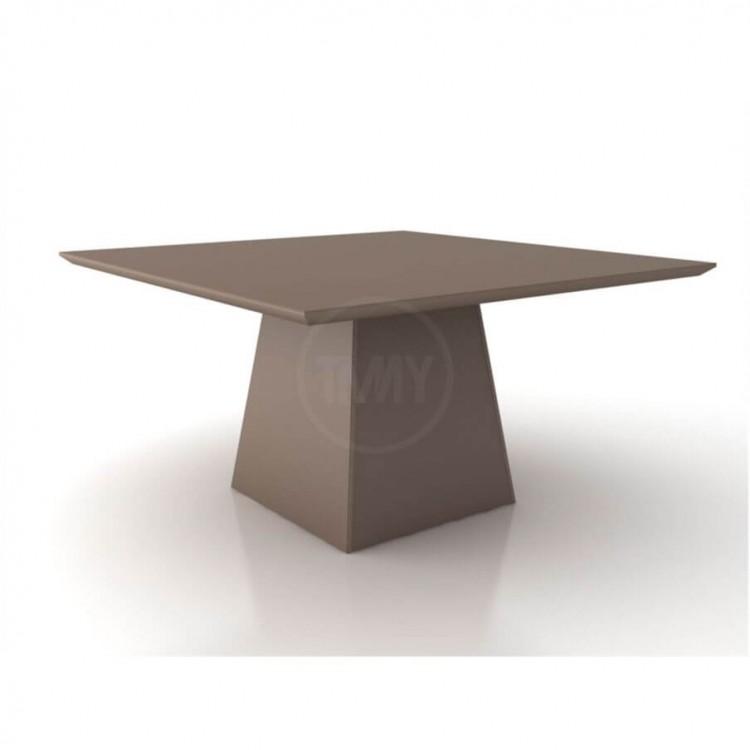Mesa de Jantar Málaga Branco Tp 150X150 - Tommy Design