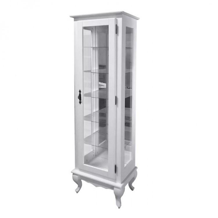 Torre Cristaleira Com Espelho Com 5 Prateleiras de Vidro -Tommy Design
