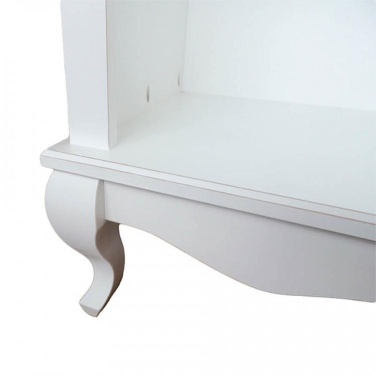 Conjunto 02 Estantes com Prateleiras de Vidro - Branco Provençal - Tommy Design