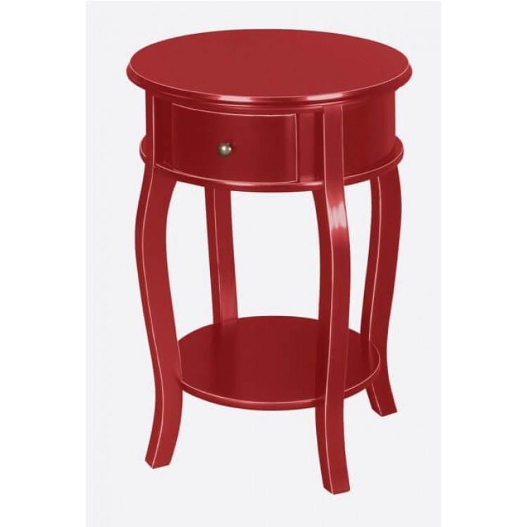 Criado Mudo No Estilo Bombê - Vermelho - Tommy Design