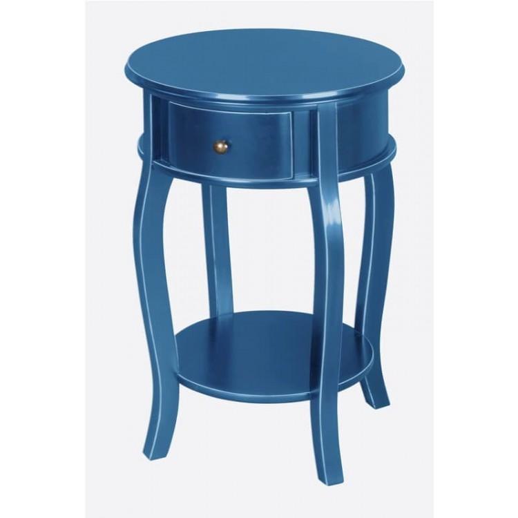 Criado Mudo no Estilo Bombê - Azul Bic - Tommy Design