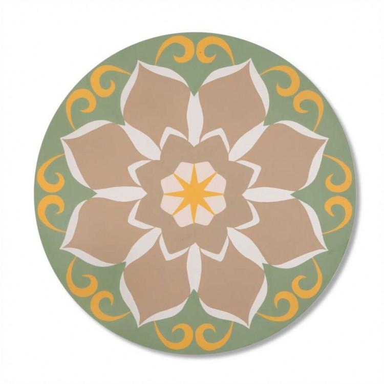 Quadro Redondo Mandala Flor De Lotus Tommy Design