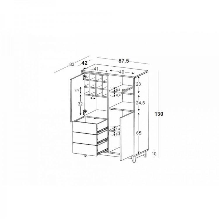 Adega Quadrato Roxo - Tommy Design