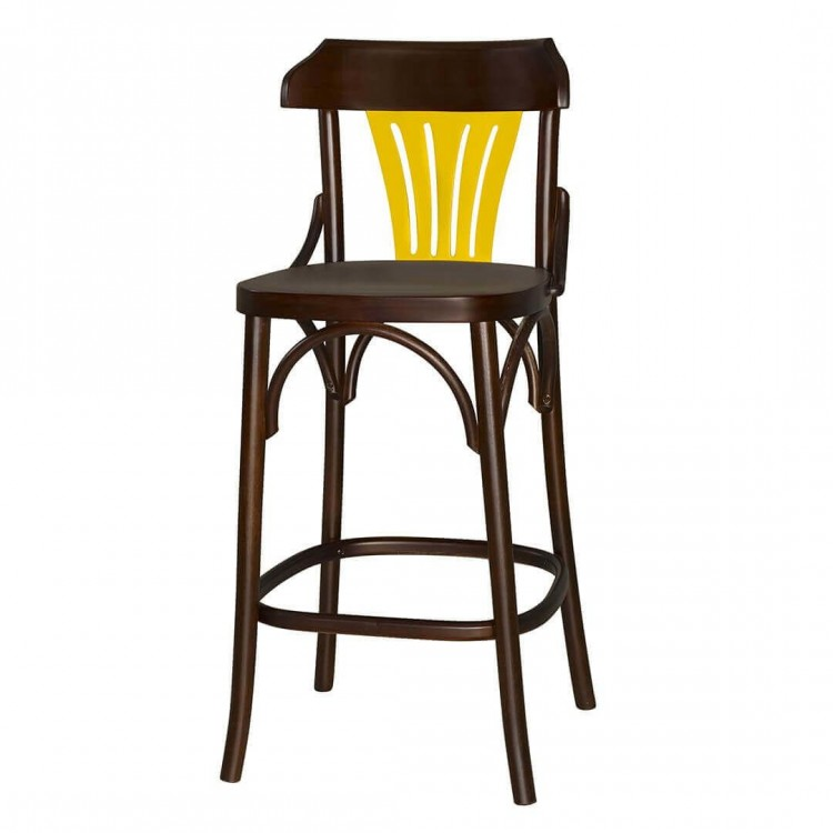 Banqueta Opzione Amarelo - Tommy Design