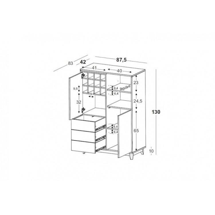 Adega Quadrato - Tommy Design