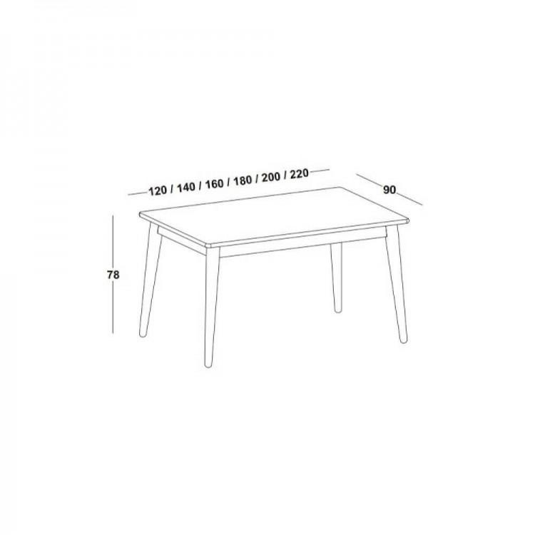Mesa  Jantar Novita 1.40 - Preto - Tommy Design
