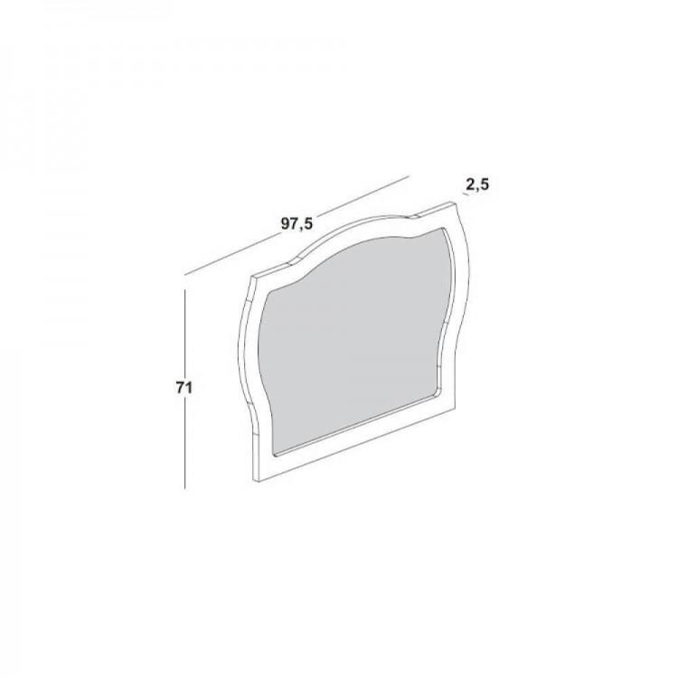 Moldura com Espelho  Jungle - Branco - Tommy Design