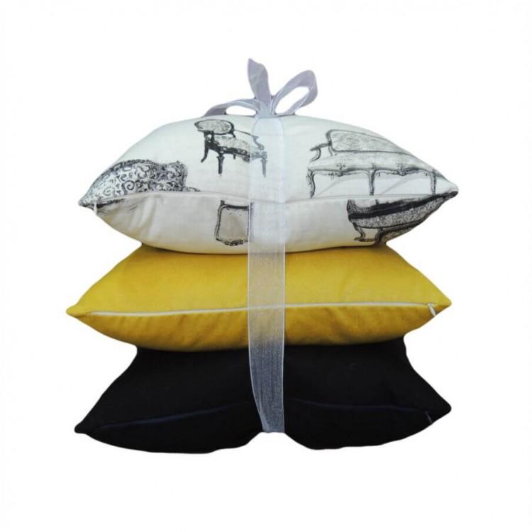 Almofada Decorativa Amarela - Tommy Design