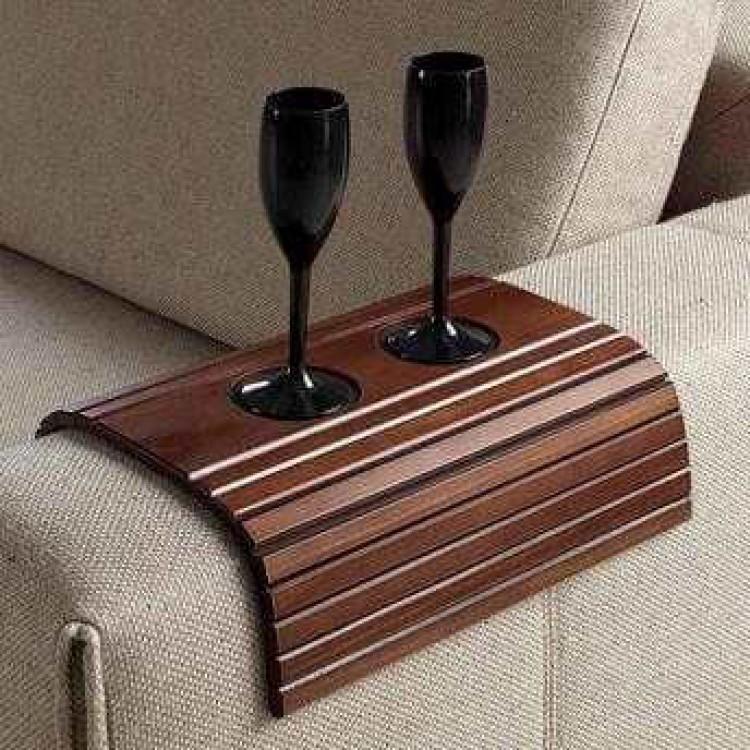 Esteira Bandeja Porta Copos Braço de Sofá de Madeira - Tommy Design