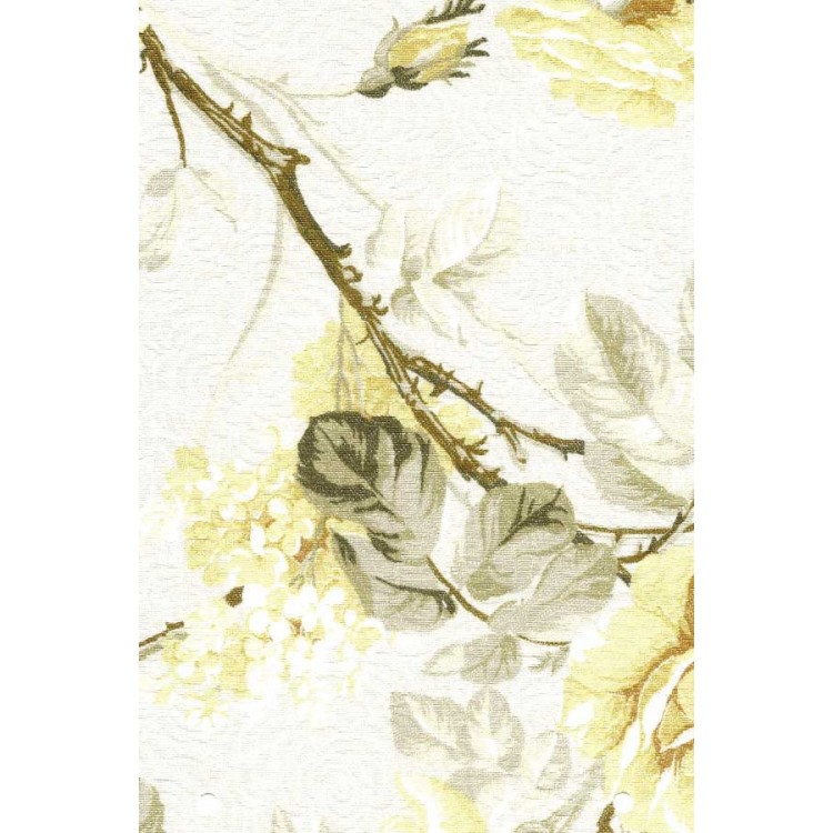 Tecido Floral Grace Amarelo - Art Decor - Tommy Design