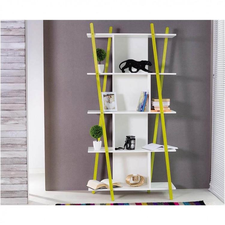 Estante Sue Pequena 5 Prateleiras - Amarelo - Tommy Design
