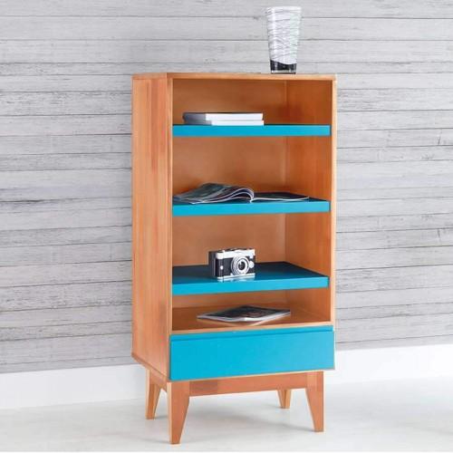 Armário Luna Natural - Azul - Tommy Design