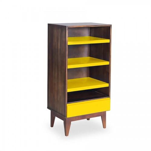 Armário Luna Envelhecido - Amarelo - Tommy Design