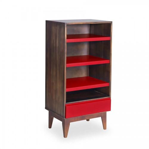Armário Luna Envelhecido - Vermelho - Tommy Design