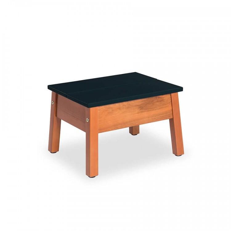Banqueta Duo Baixa Natural - Preto - Tommy Design