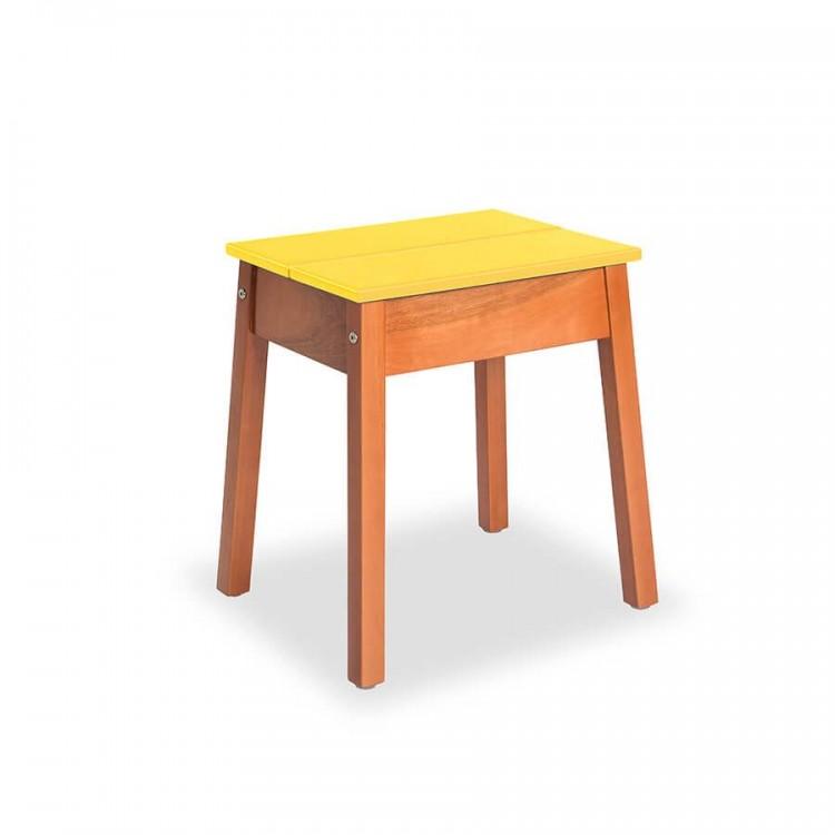 Kit Banqueta Duo Natural - Amarelo - Tommy Design