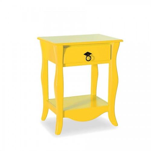 Criado Mudo Status Diamante 1 Gaveta - Amarelo - Tommy Design