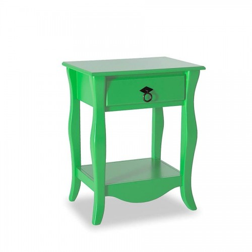 Criado Mudo Status Diamante 1 Gaveta - Verde - Tommy Design