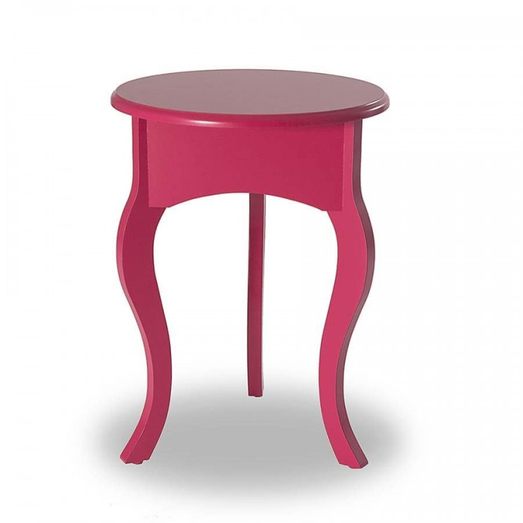 Mesa de Canto Tripé Baixa - Rosa Pink - Tommy Design